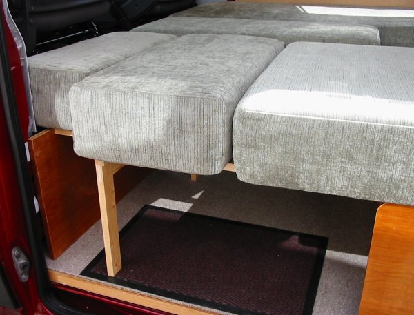small seat/bed base unit