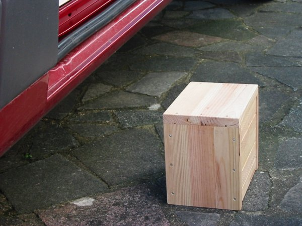 wood box step