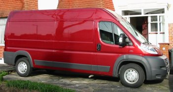 pic of red Fiat van