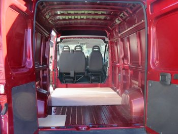 pic of empty interior of Fiat van