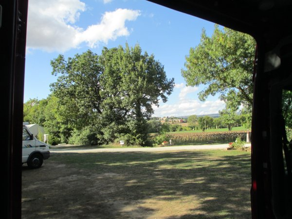 View from the sofa at Castelnaudary