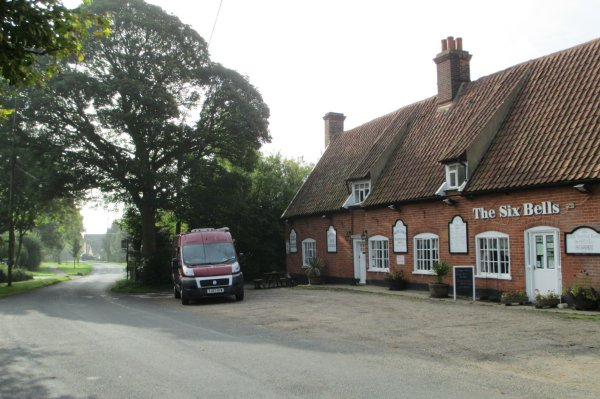The Six Bells pub near Lavenham, Suffolk