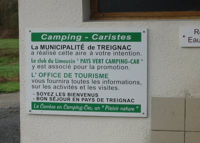 Tregnac Aire sign