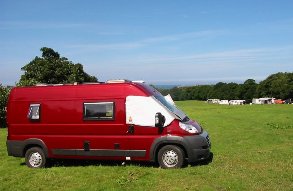 Camping and Caravanning Club temporary site for holidays