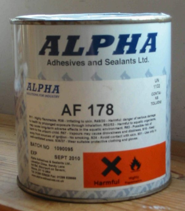tin of high temperature adhesive