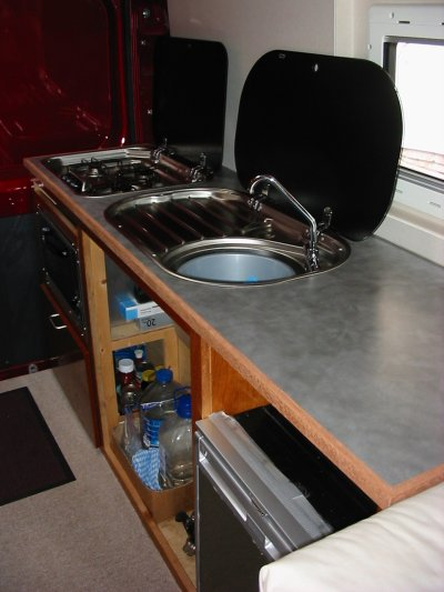 Deep Red A Self Build Motorhome Kitchen Unit