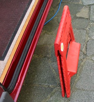 plastic step folded