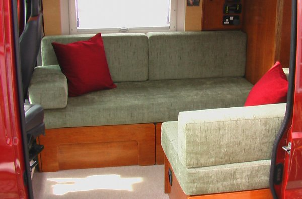 Deep Red A Self Build Motorhome Beds Amp Seats