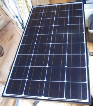 solar panel front face