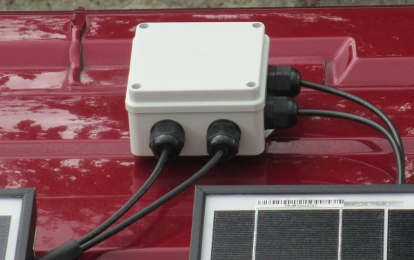 solar cable roof entry box