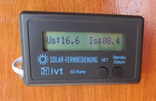 solar remote display on main control panel