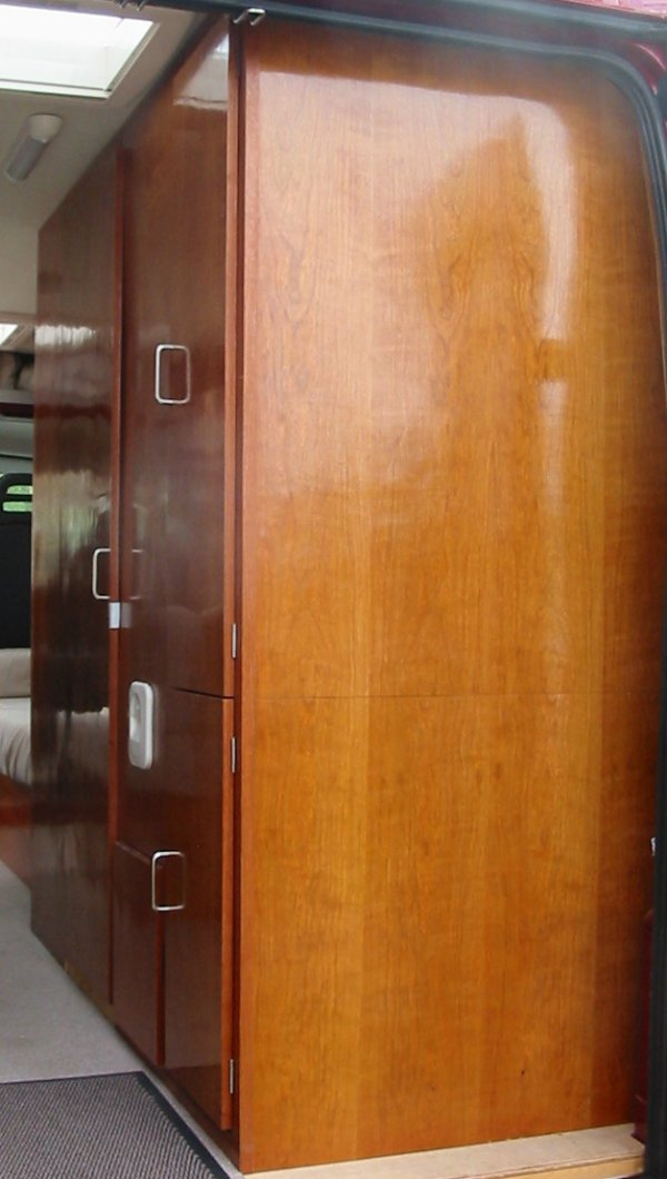 Deep Red A Self Build Motorhome Wardrobe