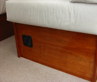 space heater in seat bed box