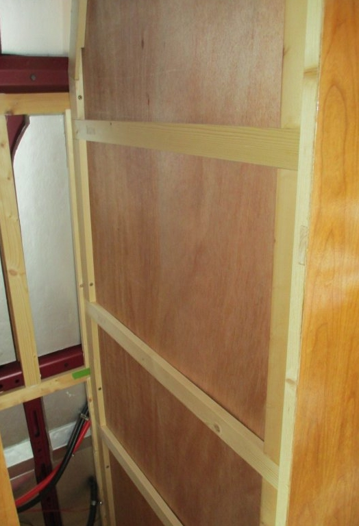 wardrobe wall in construction